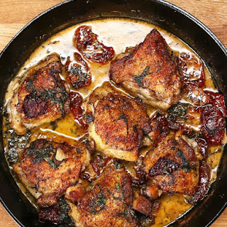 Chicken with Sun-Dried Tomato Cream Sauce #Recipe