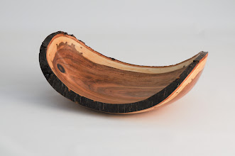 "Photo: Ed Karch 9"" x 5"" dish [plum]"