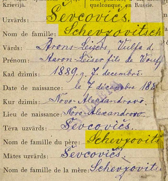 surname spelling variants