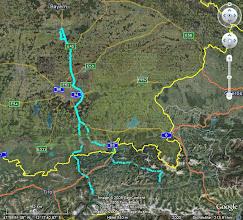 Photo: GPS-Daten der Hin- und Rückfahrt  (ab Ingolstadt, Rest Autobahn)