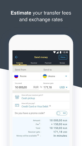 Western Union Ru Money Transfers Screenshot 4