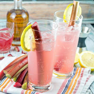 Rhubarb Tom Collins.