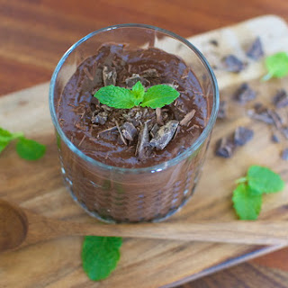 Raw Chocolate Mousse With A Hint Of Mint