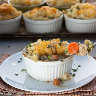 Cheddar-Potato Crusted Pot Pies