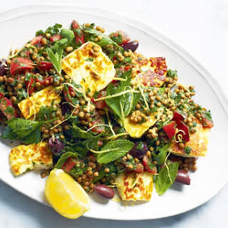Lentil Tabbouleh With Haloumi.