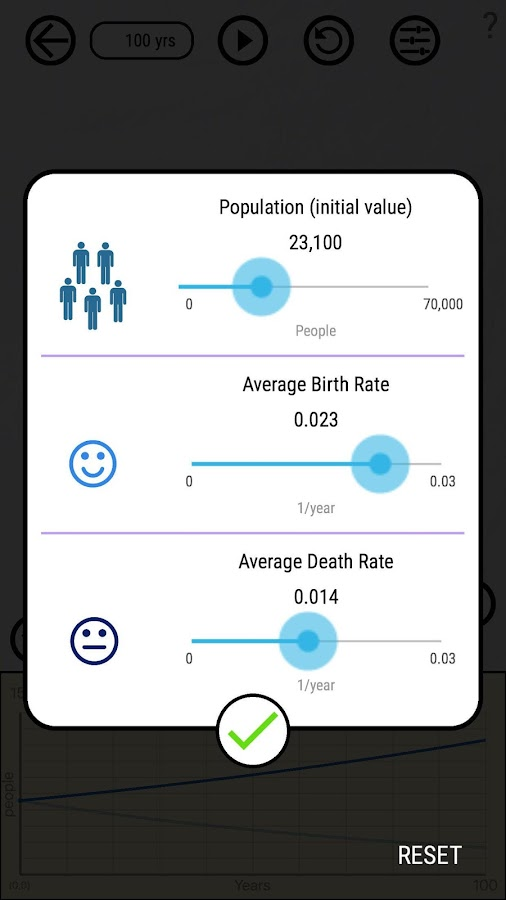 Population Planner- screenshot