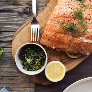 Slow Roasted Salmon with Meyer Lemon Gremolata