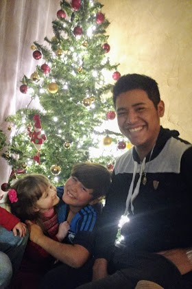Karina with Carlos with his brother Chuy