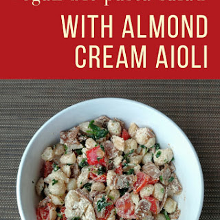 Vegan BLT Pasta Salad with Almond Cream Aioli