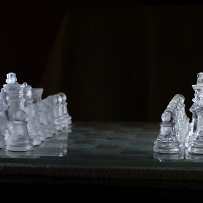 Chess in Focus by Vaibhav Shende - Artistic Objects Toys ( chess in dark, chess in focus, chess, mind game, class chess )