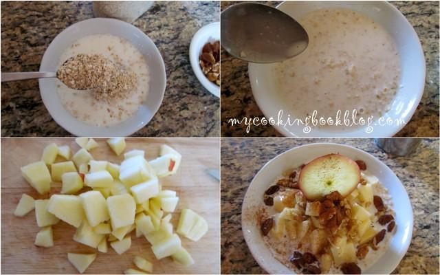 овесени ядки с ябълки, канела и стафиди