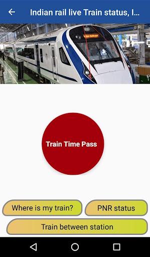 Indian Train Live Status, PNR Status : Time pass screenshot 1