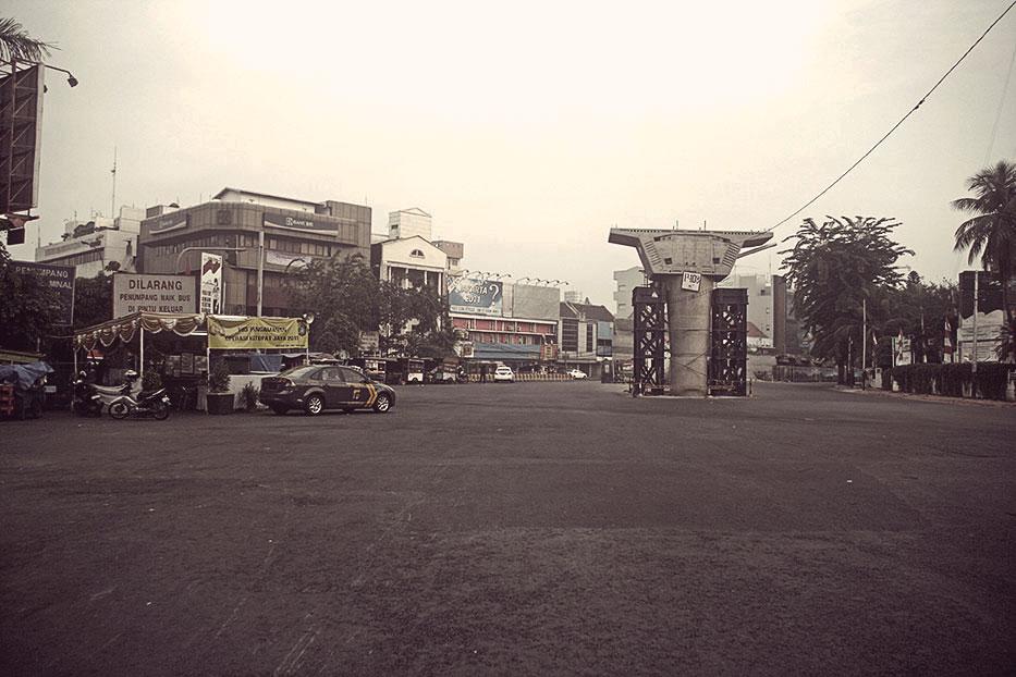 Jakarta Sepi di Terminal Blok M