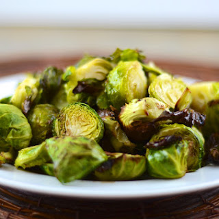 Simple Roasted Brussels Sprouts.