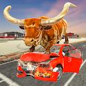 Angry Bull City Attack: Wild Bull Simulator Games icon