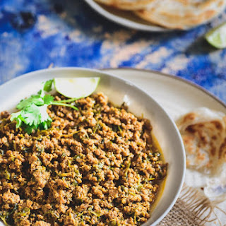 Methi Keema / Spicy Mutton Mince with Fenugreek Leaves