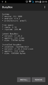 BusyBox v1.24.1-18 (ROOT)