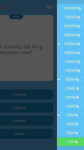 Millionaire Quiz 2019 -  IQ game in English hack tool