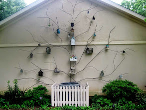 Photo: Metal Tree Complete with Birdhouses