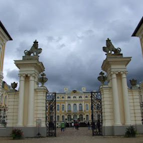 by Oleg Verjovkin - Buildings & Architecture Architectural Detail ( rundale, castle, latvia )