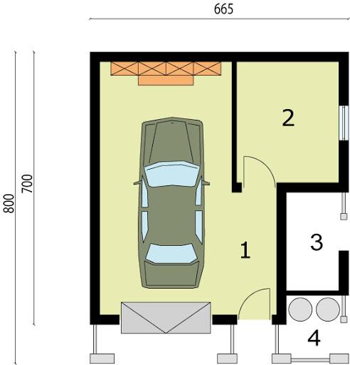 G21a - Rzut garażu