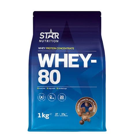 Star Nutrition Whey 80 1kg - Belgian Chocolate