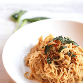 Spaghetti Squash with Vegan Fire Roasted Tomato Cream Sauce