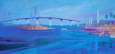 Photo: Antioch Bridge, oil on canvas by Nancy Roberts, copyright 2014. Private collection.