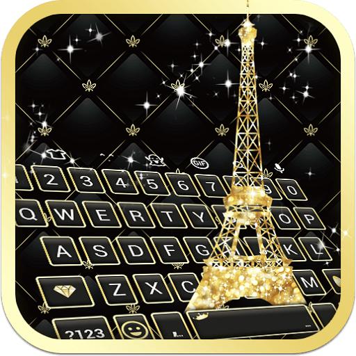 Gold Paris - Emoji Keyboard Skin