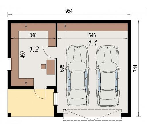 AD-G3.22 - Rzut garażu