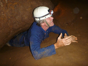 Photo: David coming out of the Birth Canal
