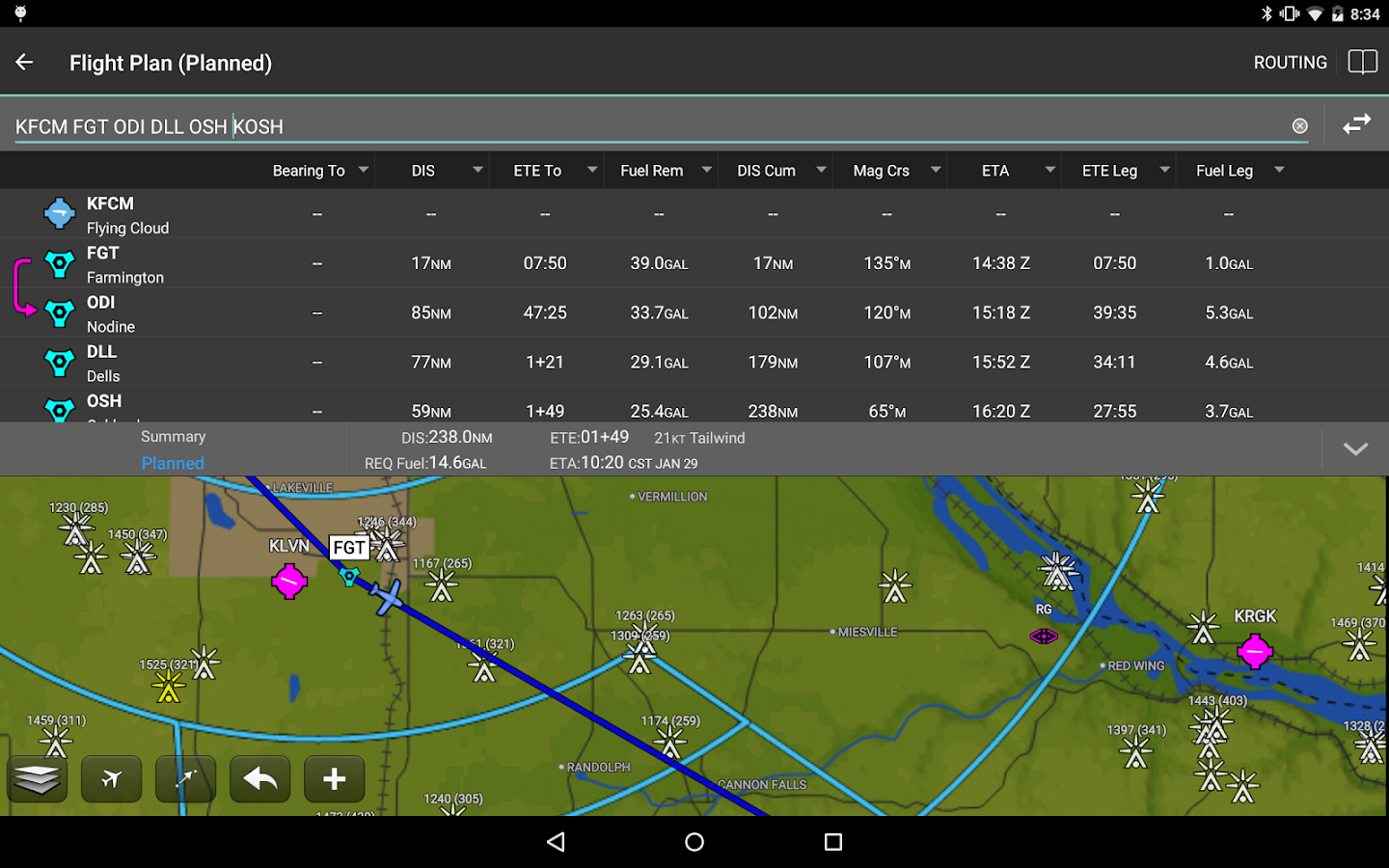 Garmin Pilot- screenshot