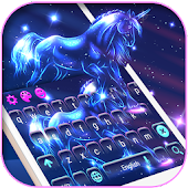 Magical Night Spirit Unicorn Keyboard