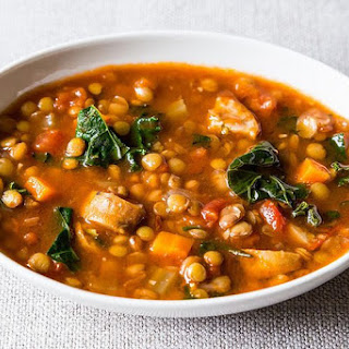 Lentil and Sausage Soup with Kale Recipe