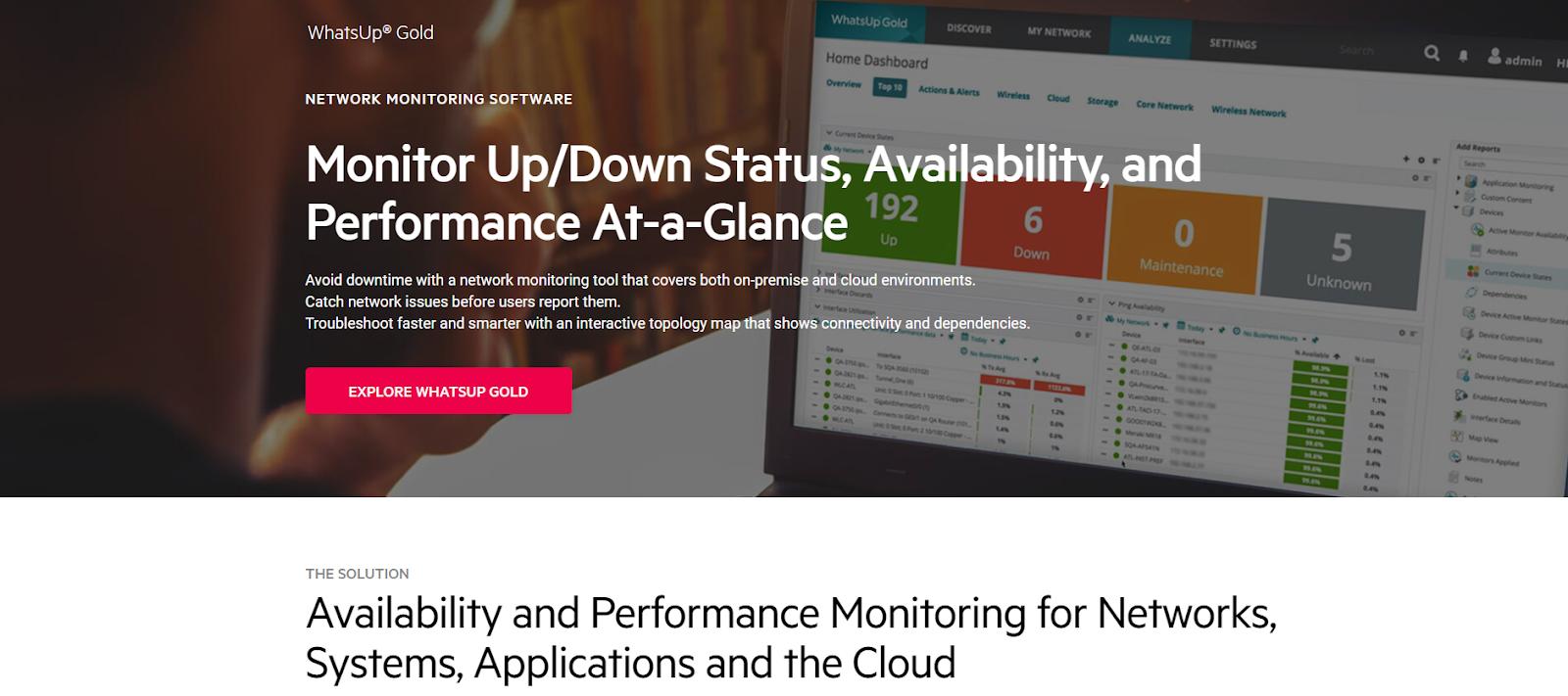 Progress WhatsUp Gold Network Monitoring Tool