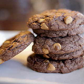 Chocolate Peanut Butter Chip Brownie Cookies