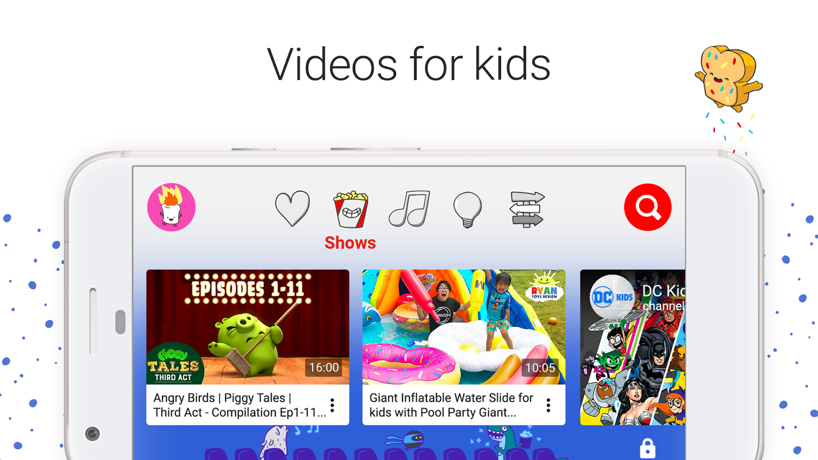 Screenshots of YouTube Kids for iPhone