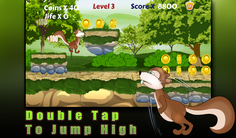 android Squirrel run-Ultimate runner Screenshot 4