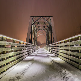 Winter Walkin by Chris Reynolds - Buildings & Architecture Bridges & Suspended Structures ( nikon, parsons wv, d5300, winter, long exposure )