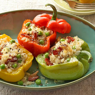 Sweet Peppers Stuffed with Applewood Bacon Risotto Recipe