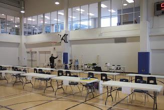 Photo: Setting up -  we were 1st!