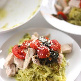 Pesto'D Spinach Tomato Spaghetti Squash Recipe