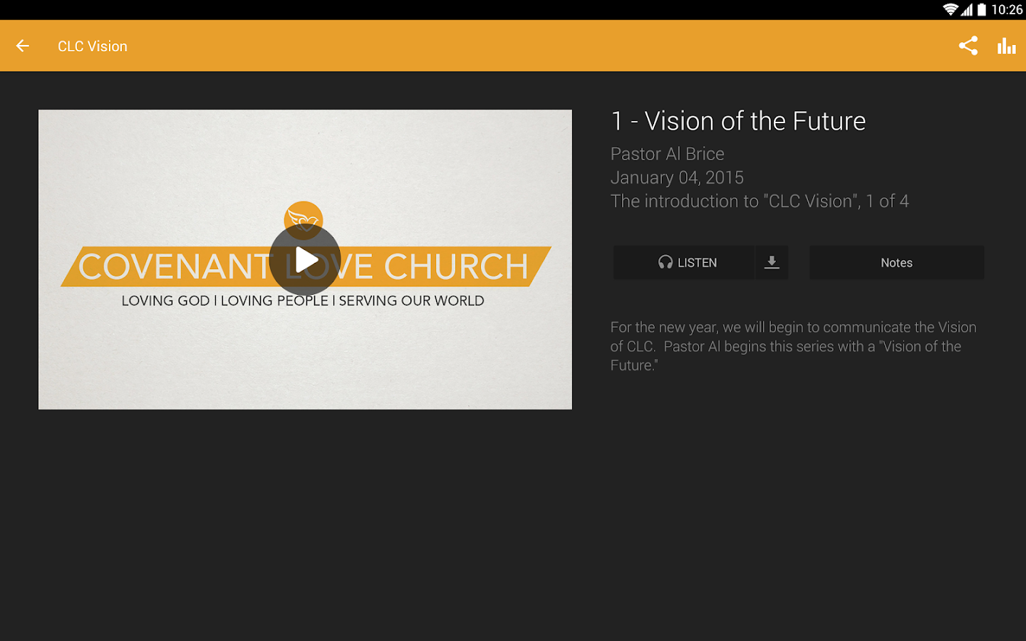 Covenant Love Church- screenshot
