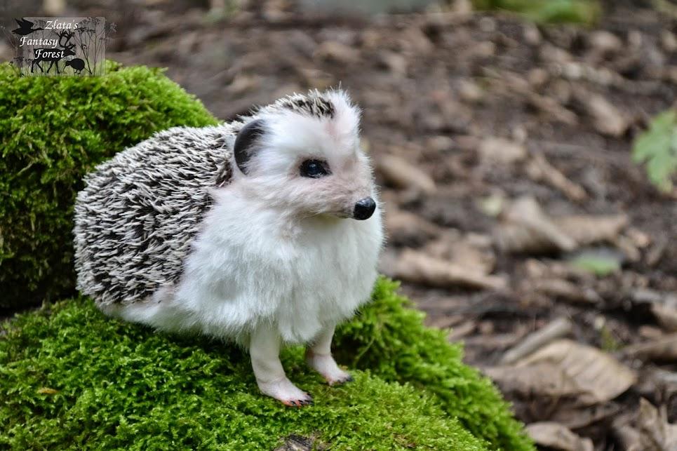 hedgehog handmade soft sculpture