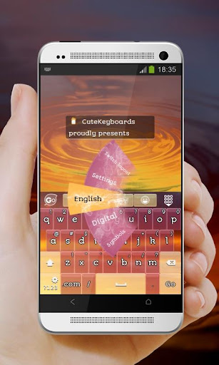 흐린 일몰 GO Keyboard