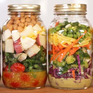 4 Delicious Salads-In-A-Jar.
