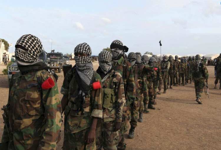 Members of Somalia's al-Qaeda linked al Shabaab militia. File photo