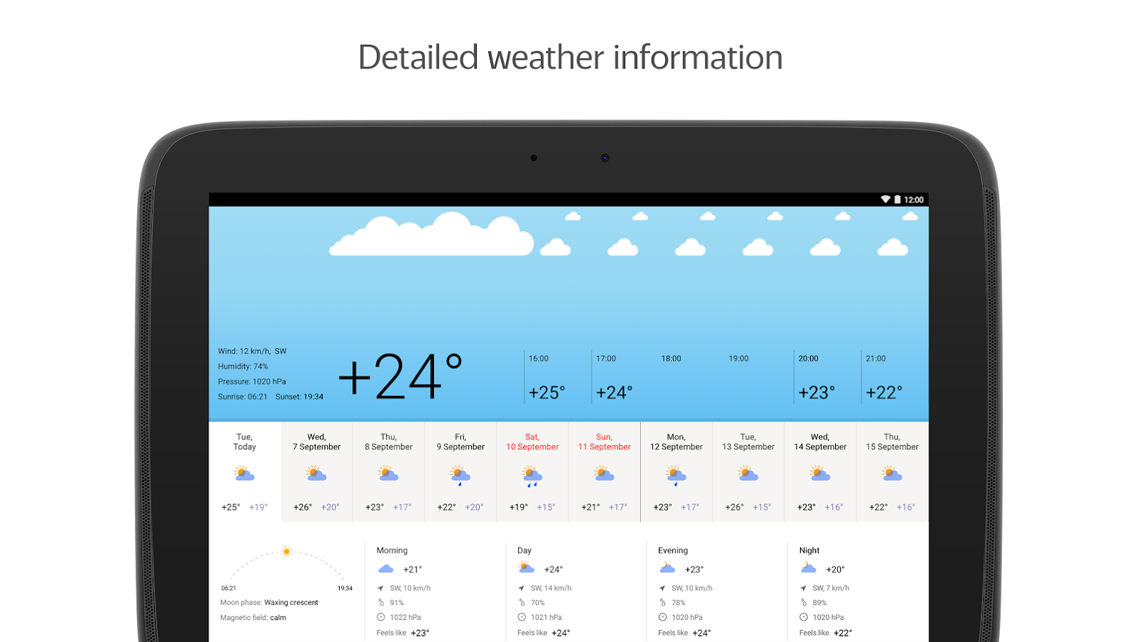 Yandex.Weather- screenshot