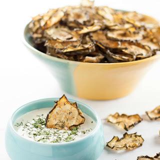 Garlic Dill Baked Cucumber Chips