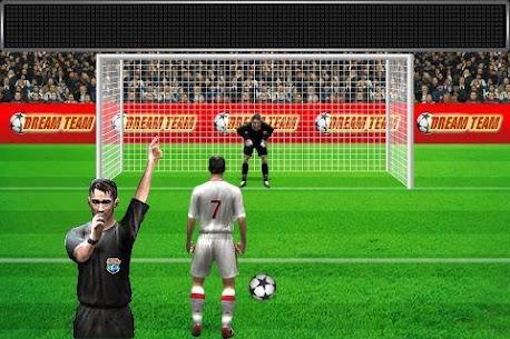 Football penalty. Shots on goal. 3